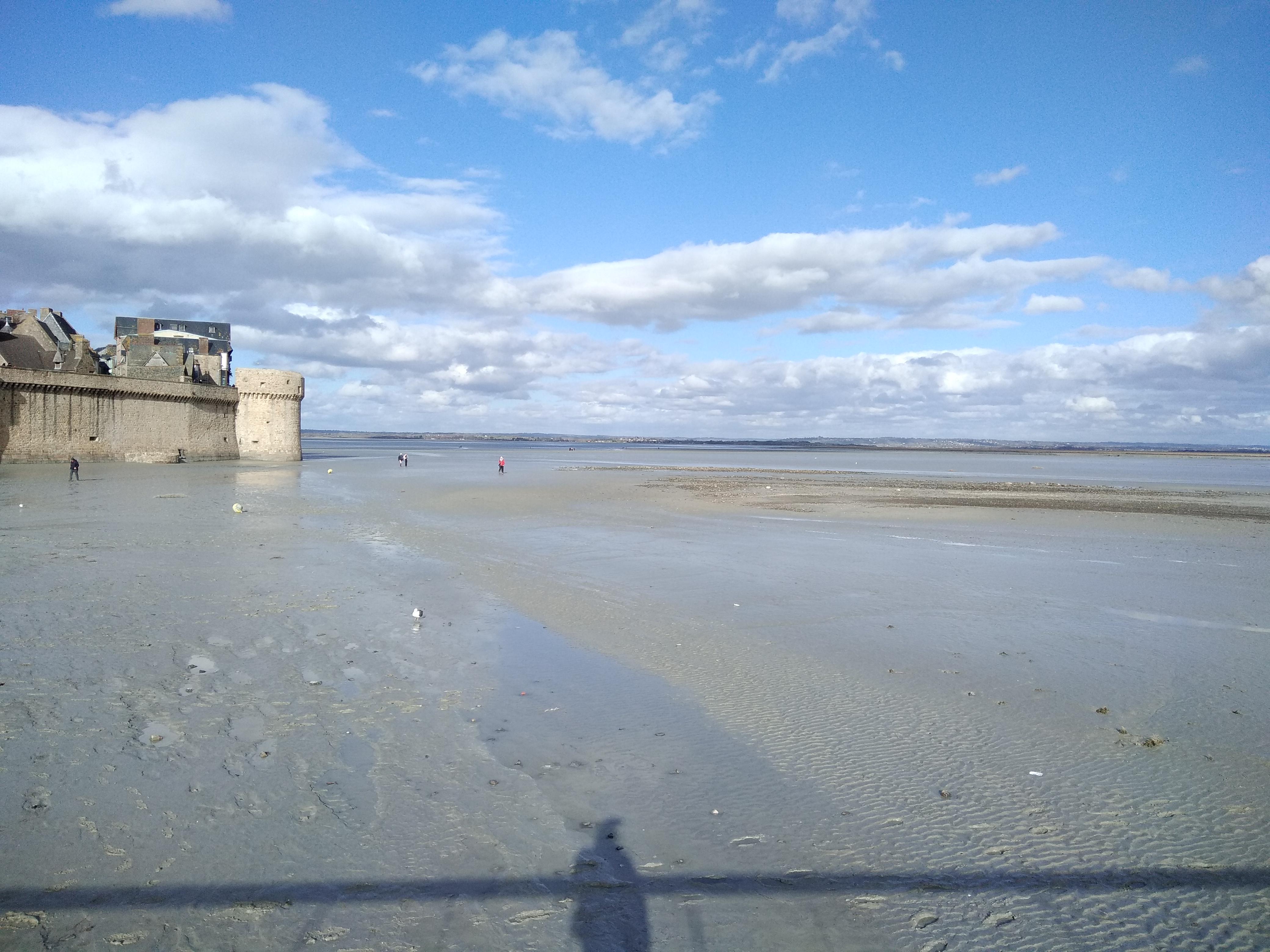 La baie à marée basse