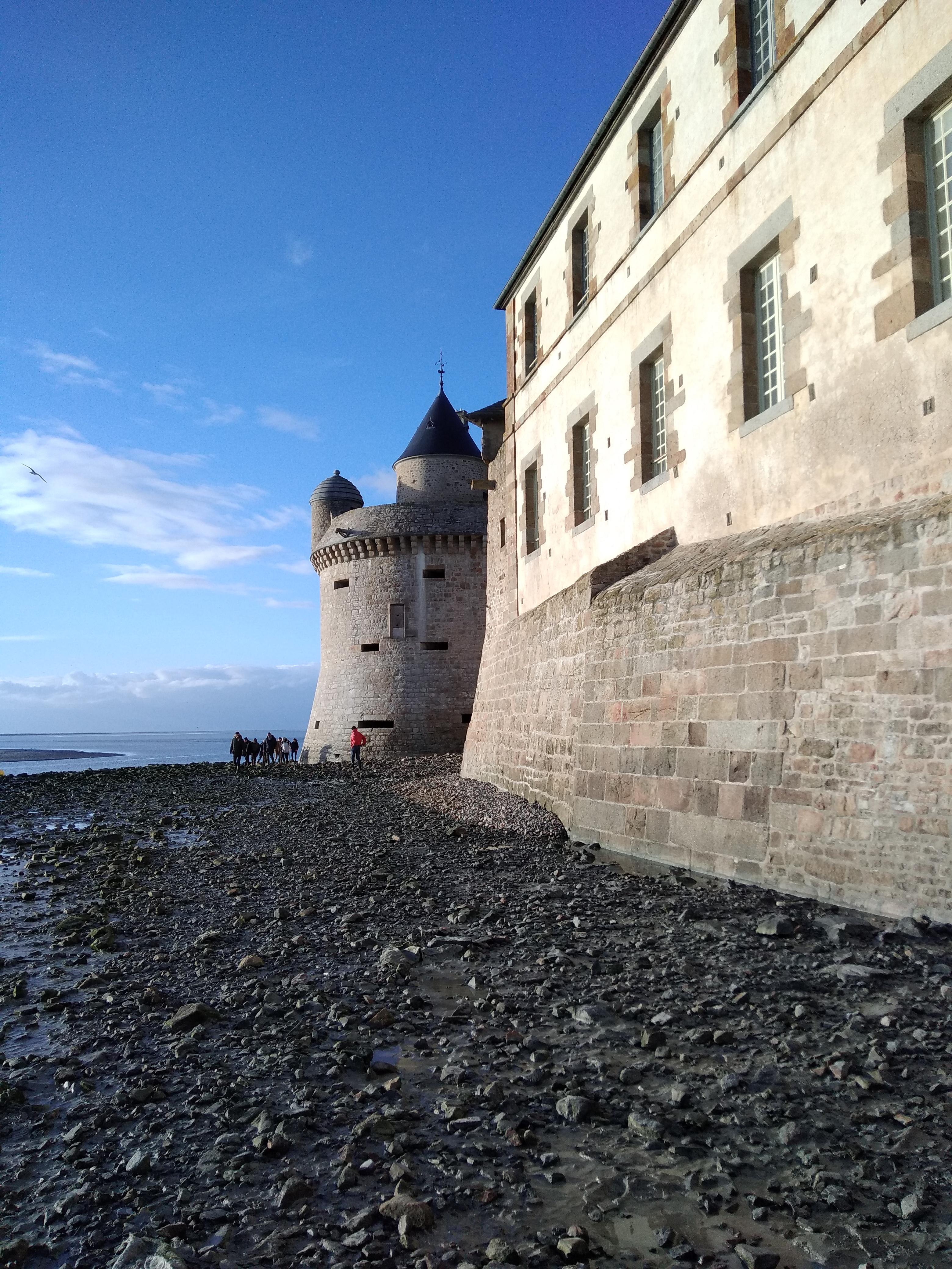 marée basse au mont saint Michel