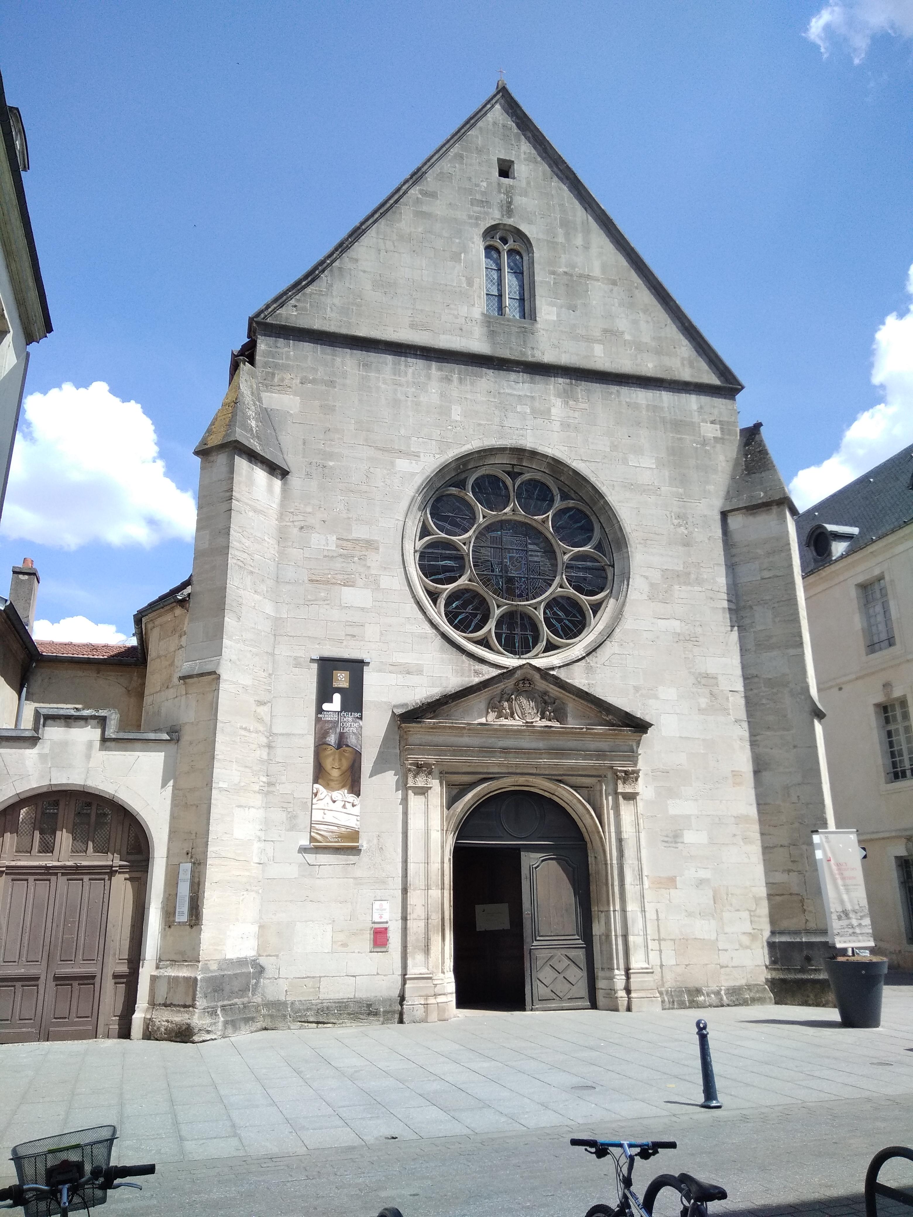 La façade de l'église des Cordeliers coté Grand rue