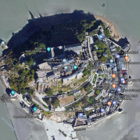 vue satellitaire du mont saint michel